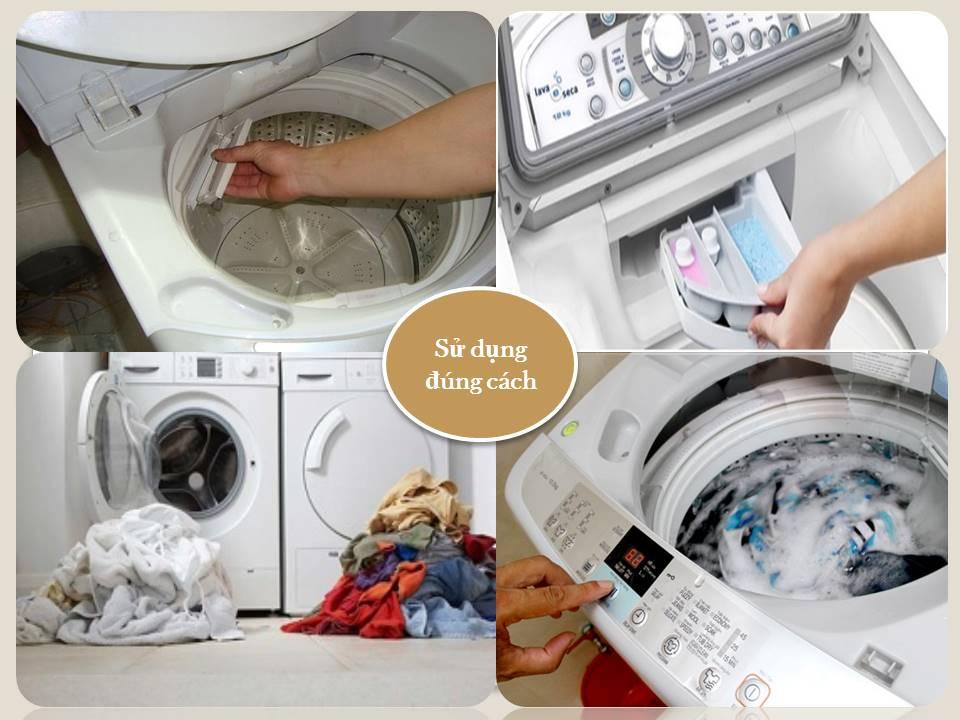 Sử dụng máy giặt đúng cách, hiện quả