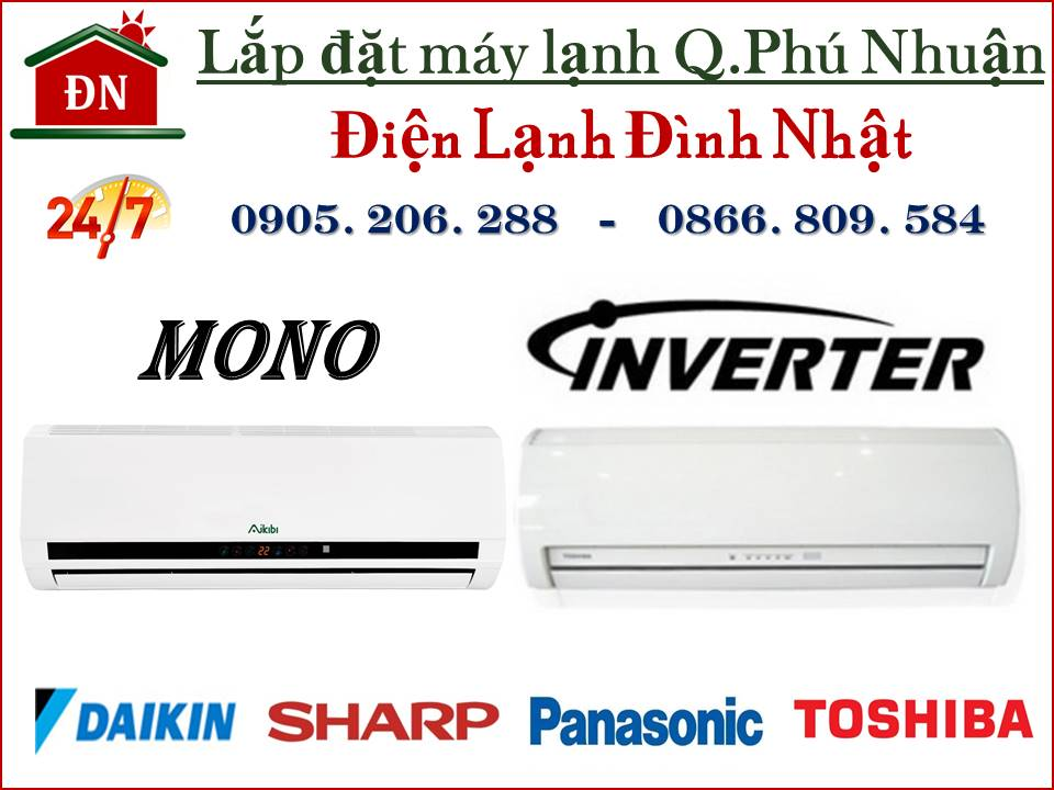 Lắp đặt máy lạnh quận Phú Nhuận