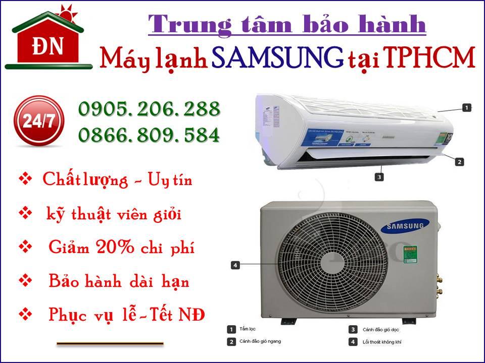 Trung tâm bảo hành máy lạnh Samsung tại TPHCM