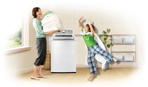 Máy giặt đã sạch sẽ - thơm tho sau khi vệ sinh