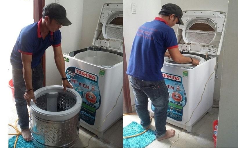 Vệ sinh máy giặt quận Tân Phú Giá rẻ