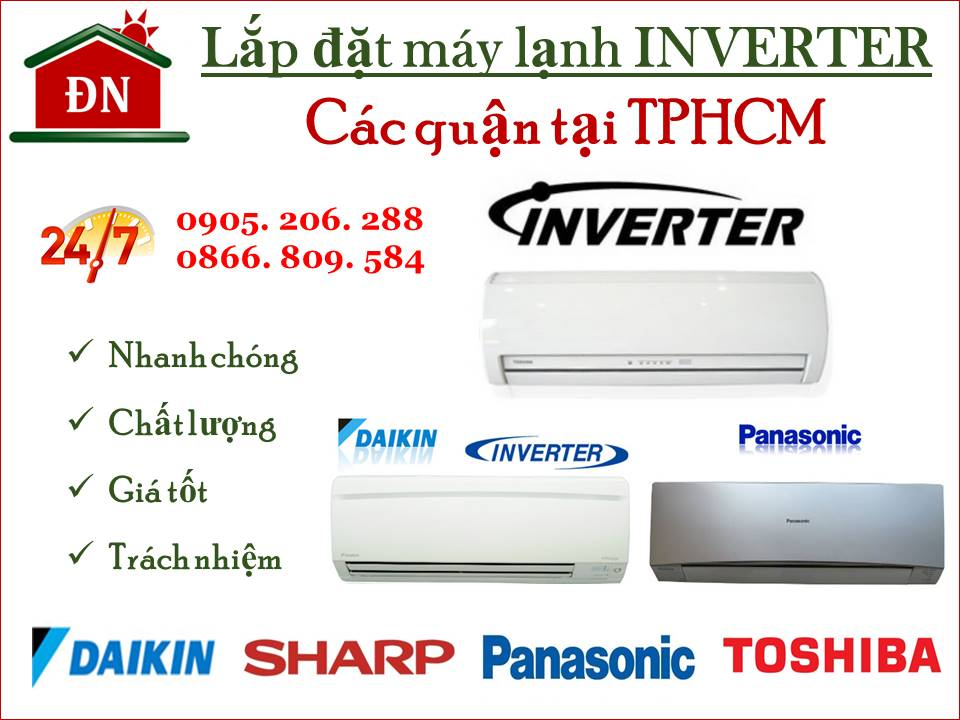 Lắp đặt máy lạnh Inverter tại TPHCM