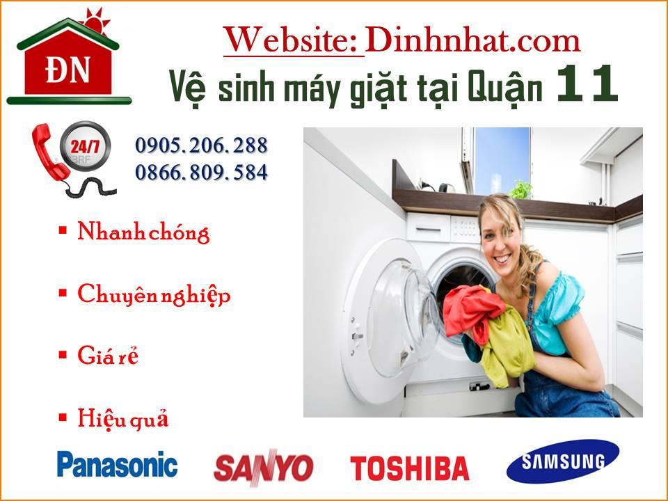 Vệ sinh máy giặt quân 11
