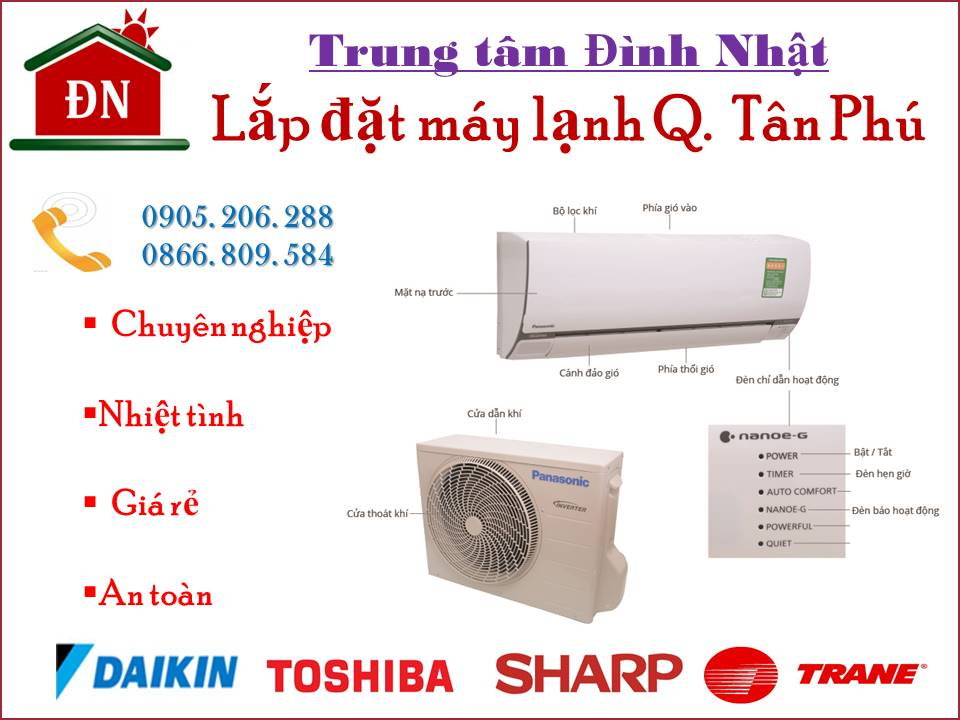 Lắp đặt máy lạnh quận Tân Phú