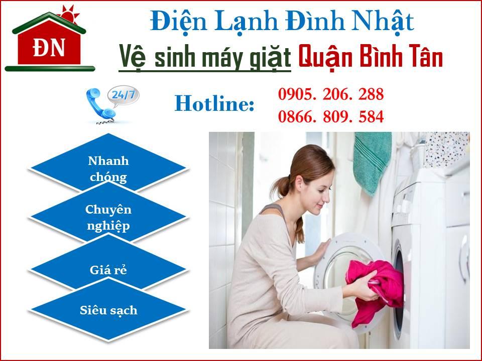 Vệ sinh máy giặt quận Bình Tân