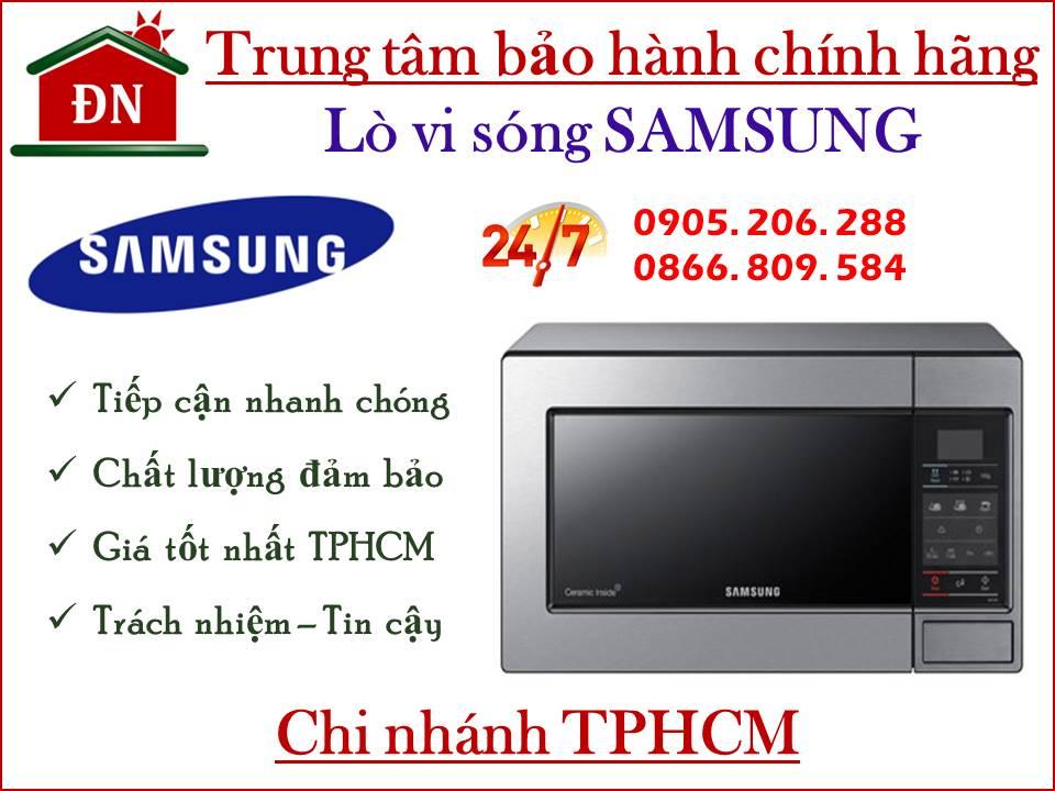 Trung tâm bảo hành lò vi sóng Samsung tại TPHCM