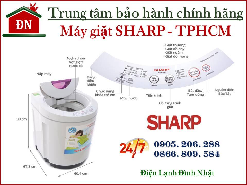 Trung tâm bảo hành máy giặt Sharp tại Tphcm