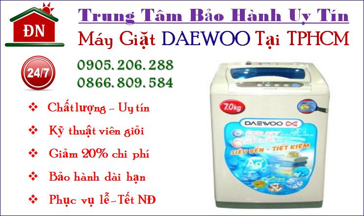 Trung tâm bảo hành máy giặt Daewoo tại Tphcm